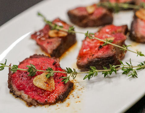 Steak Plated with Thyme